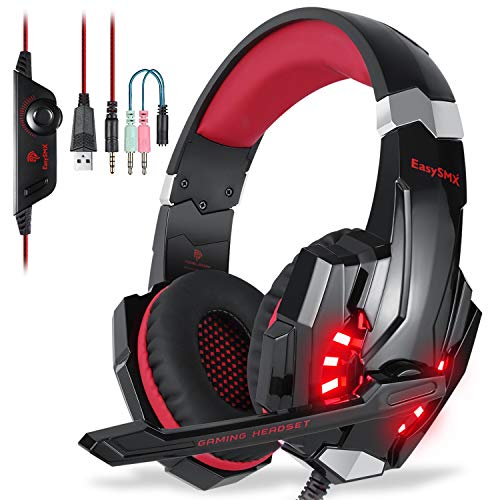 ung Noise Cancellation Stereo Gaming Headset mit Mikrofon und In-line-Controller Kompatibel mit PS4 Mobile Phones Laptop Tablet und PC ()