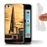 eSwish Coque Gel TPU de Coque pour Apple iPhone 5C / Shard Paysage Ville...