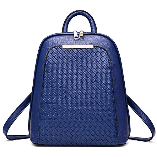 Mefly Tutti-Match Pu Zaino Portatile Golden Royal Blue