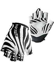 Panegy - Guantes Cortos de Ciclismo para Hombre Mujer de Dedos Medios Deportivos Fitness Antideslizantes Transpirable - Talla XL