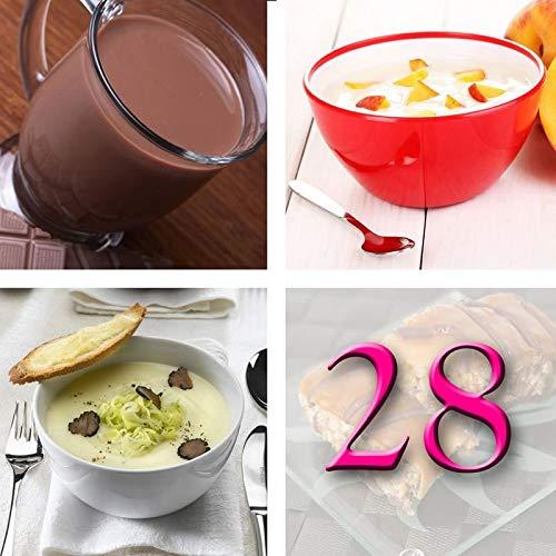 Régimen Adelgazante Hiperproteico 28 días Desayuno Chocolate Paquete 66 productos 1 coctelera y 1 guía de regalo – pérdida de peso optimizada