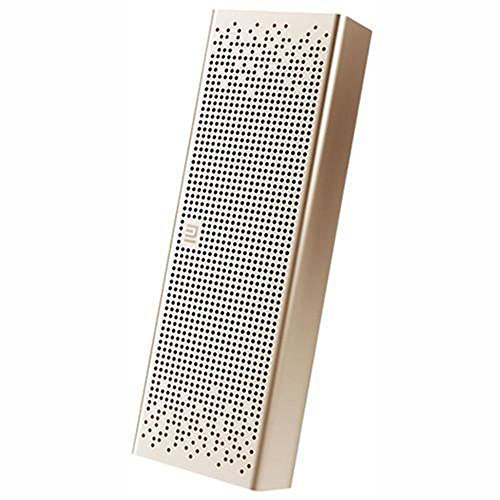 Mi Bluetooth Speaker, Altavoz rectangular con Bluetooth y Soporte manos libres para llamadas, color dorado (Gold)