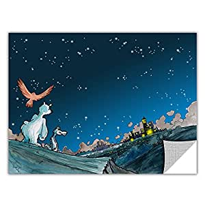 ArtWall Apeelz Luis Peres 'Polar 4' Removable Graphic Wall Art, 14 by 18-Inch
