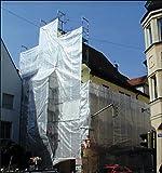 Super Gerüstschutzplane - Gerüstschutzfolie 2,70 x 10 m transparent 160g/m² Lichtdurchlässigkeit mind. 70%