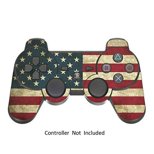PlayStation 3 PS3 Controller Sticker - Aufkleber Schutzfolie Skin für Sony Playstation DualShock 3 Wireless Controller Battle Torn Stripes