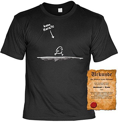 Witziges Spaß-Shirt + gratis Fun-Urkunde: Kann Karate Schwarz