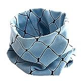 Kinder Schals,iSpchen Kinderschal Baumwolle Druckkopf Warm Halten Hals Cartoon Schal Für Jungen Mädchen Retro Schleife Schal Hellblau