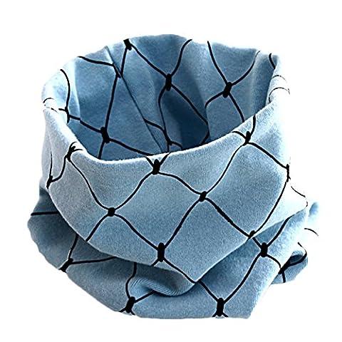 TININNA Echarpes Cartoon Bebe Automne Hiver GarçOns Filles Collar BéBé Echarpe Coton Collier O Neck Wraps Bleu