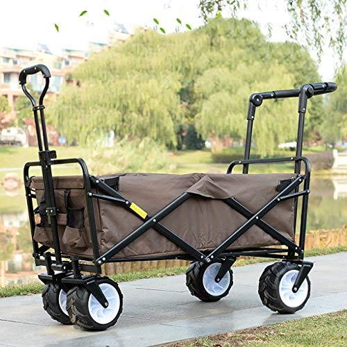 Faltbare Hand-Trucks, Pull Garden Trolley Falten Hand Wagon Portable Supermarkt Shopping Grocery Cart Trolley Outdoor Camping Fishing Cart,B