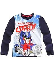 T-shirt manches longues garçon Angry birds- Transformers Marine de 6 à 12ans