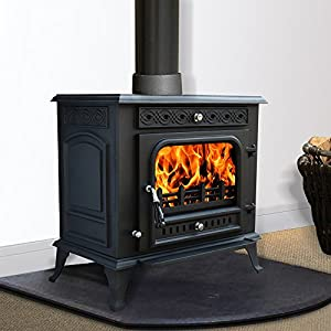 Lincsfire 13KW MultiFuel WoodBurning Cast Iron Stove