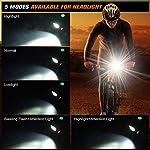 Luci-per-Bicicletta-Ricaricabili-USB-Super-Luminose-Luce-Led-Bici-Anteriore-e-Posteriore-Luci-Notturne-Bici-Modalit-di-Llluminazione-Regolabile-Impermeabile-Set-Luci-Bici-Facile-da-Montare