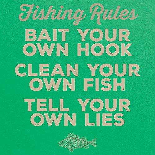 Fishing Rules T-shirt, Uomo Verde smeraldo