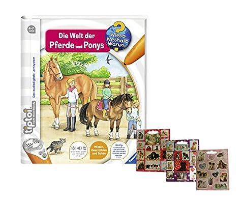 Ravensburger tiptoi Buch - Wieso? Weshalb? Warum? 13 Die Welt der Pferde und Ponys + Gratis Hunde und Katzen-Sticker
