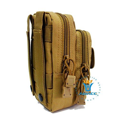 Multifunktions Survival Gear Tactical Beutel MOLLE Beutel Tactical Waist Pack, Outdoor Camping Taille Bag Werkzeugtasche Travel Handy Tasche KH