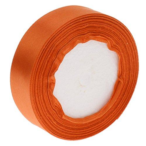 Homyl 22 Meter Satinband Seidenband Schleifenband Hochzeit Dekoband Satin Geschenkband Stoff Band Satin Rolle Geschenk Verpackung - Orange, 220cm -