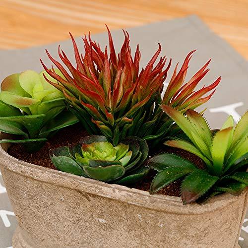 piante in vaso, piante artificiali arte carnosi artificiale verdi adatti per decorare le tabelle di bilancio, fusciacche ufficio, balcone giardini, esterno,picture2