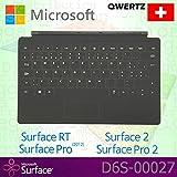 Microsoft Surface RT/Pro (2012)/2/Pro 2Type Cover Schweiz QWERTZ Tastatur mit Non-Backlit Schlüssel–Schwarz–OEM Verpackt (Keine Einzelhandelsverpackung)