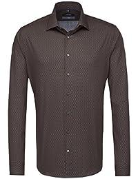 SEIDENSTICKER Herren Hemd X-Slim Langarm Bügelleicht Businesshemd Kent-Kragen Kombimanschette weitenverstellbar