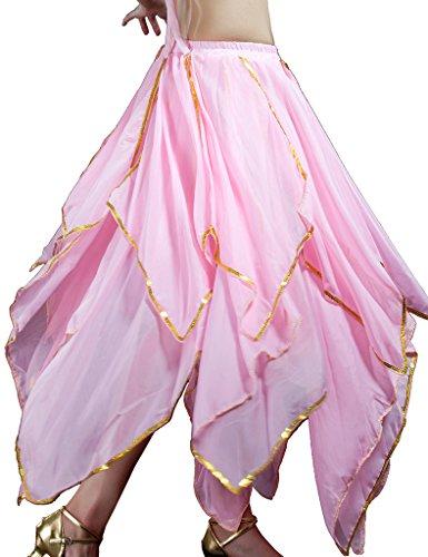 auchtanz Lange Rock Kleid Bauchtanz Kostüm Halloween Pink (Halloween Bauchtanz Musik)
