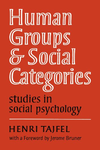 Human Groups and Social Categories Paperback