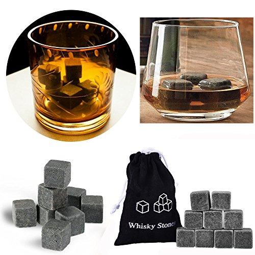 aus natürlichem Speckstein Whisky Steinen Schminkpinsel-Set Erkältung Ihr Getränk ohne...