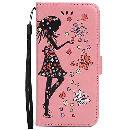f7595a6f3ed Custodia Cover per iPhone 6/6S 4.7, Ukayfe Luxury Puro Colore Glitter  Modello Goffratura ...