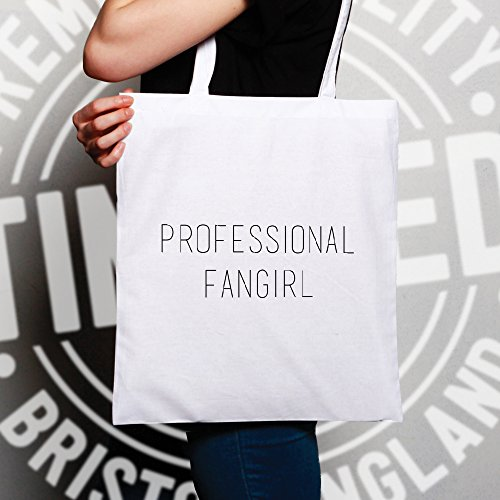 Professionali Fangirl Fan Celebrità Celeb Slogan divertente Cool TV Sacchetto Di Tote Natural