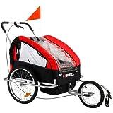 Remorque Enfant Vélo Poussette Bébé Confidence 2 en 1