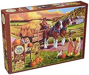 Cobblehill 88010 XL 275 Piezas Hay Wagon Puzzle, Varios