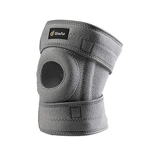 Elastische Knorpel Knie-unterstützung (HBLWX Sport Offene Knieschützer, Arthritis-Schutz, rutschfest, atmungsaktiv bei Sportverletzungen, Verstauchungen, Knorpel-Meniskusverletzung)