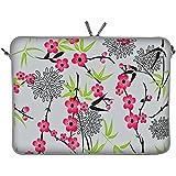 Digittrade LS104-15 Sakura Designer Schutzhülle für Laptops und MacBooks mit einer Bildschirmdiagonale von 38,1-39,6 cm (15,6 Zoll) grau-rosa - gut und günstig