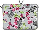 Digittrade Notebooktasche 15 6 Zoll Neopren Laptop Hülle 15 grau Design Sleeve Ultrabook Macbook 39,1 - 39,6 cm (15,4 - 15,6 Zoll) Sakura LS104-15
