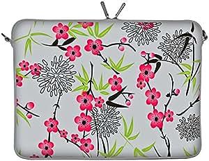 "DIGITTRADE LS104-13 Sakura Designer MacBook Sleeve 13.3"" Laptop Cover neoprene soft carry case up to 13.3 inch Anti Shock System"