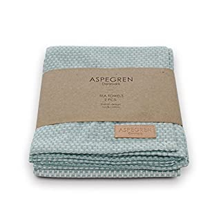Aspegren Denmark - 2er Set Geschirrhandtücher Dusk Blue, Mint
