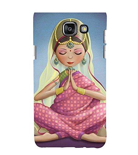 Printvisa Animated Traditional Indian Girl 3D Hard Polycarbonate Designer Back Case Cover...