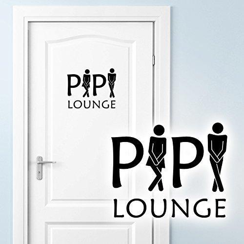 Grandora WC Türaufkleber Pipi Lounge + Mann Frau Piktogramm I beige (BxH) 16 x 13 cm I Badezimmer...