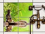 creatisto Fliesenfolie selbstklebend 20x20 cm 2x2 Design Buddha Zen (Erholung) Klebefolie Küche Bad