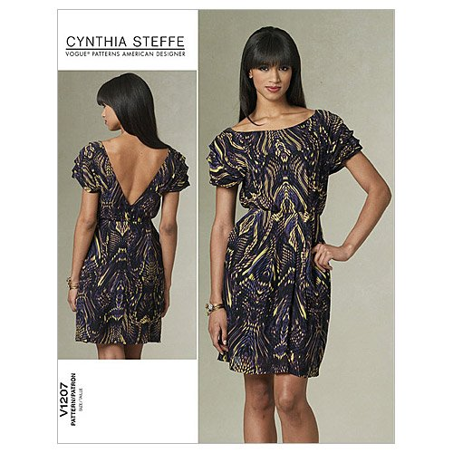 Vogue American Designer-muster (VOGUE American Designer Schnittmuster V1207 - Cynthia Steffe - Misses' Dress - EE (14 - 16 - 18 - 20))