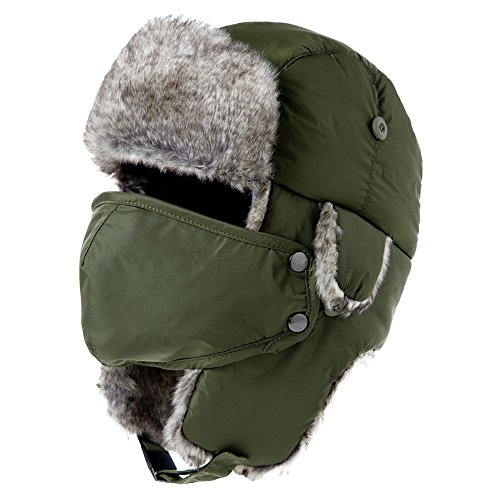 normani Warme Winterm/ütze//Fellm/ütze//Pilotenm/ütze Grau