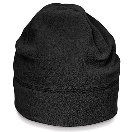 SuprafleeceTM Summit Hat, Wintermütze, Mütze, Fleecemütze,Größe Doppelgrößen viele Farben S/M,Black (Fleece Mütze)