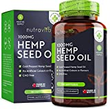 Hemp Seed Oil 1000mg | 6 Months Supply |180 Softgel Capsules | Pure
