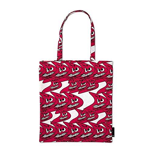 Tote bag Borsa, Cotone, blau/rot/gelb/weiss, Design: Natahlie Du Pasquier rosso