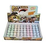 Wenosda Huevos de Dinosaurio Huevo de incubación Crecimiento de Huevo de dragón para niños tamaño pequeño Paquete de 60pcs, Grieta Blanca