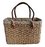 - 51z9LVH1jNL - Stylish Large Shabby Chic Floral Design Ladies French Market Shopping Basket Bag Handbag