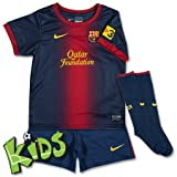 Nike Baby Dreiteiler FC Barcelona Infants Home Kit (3-36 Monate), Midnight navy/stormred/tour, 12-18, 478320