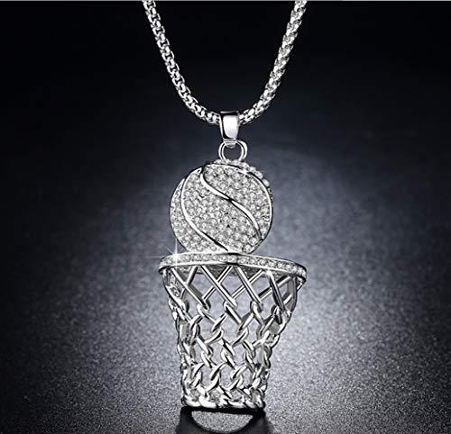 Tery Elegante wunderschöne Halskette Übertriebene Atmosphäre Persönlichkeit Basketball Frame Halskette