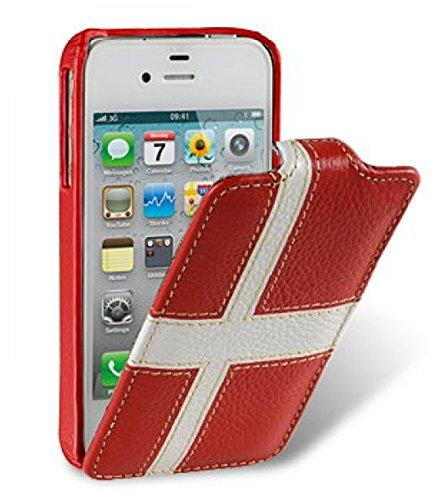 Melkco Jacka type Ledertasche für Apple iPhone 6 schwarz Rot-Weiss