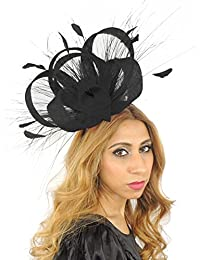 434d175350e63 Hats By Cressida Gorgeous Ralitza Ascot Derby Fascinator Hat - with Black  Accents Headband