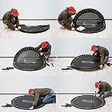 eyepower faltbares Fitnesstrampolin 130 cm inkl. Randpolster - 7